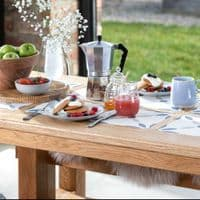 Stannington Solid Oak Dining Table | Handcrafted UK